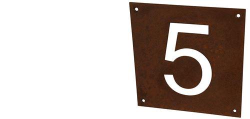 Hausnummer aus Cortenstahl