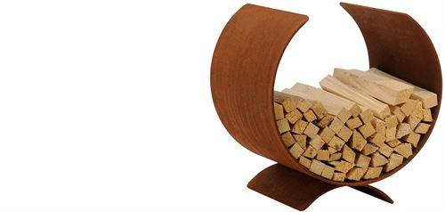 Anzündeholzständer aus Cortenstahl